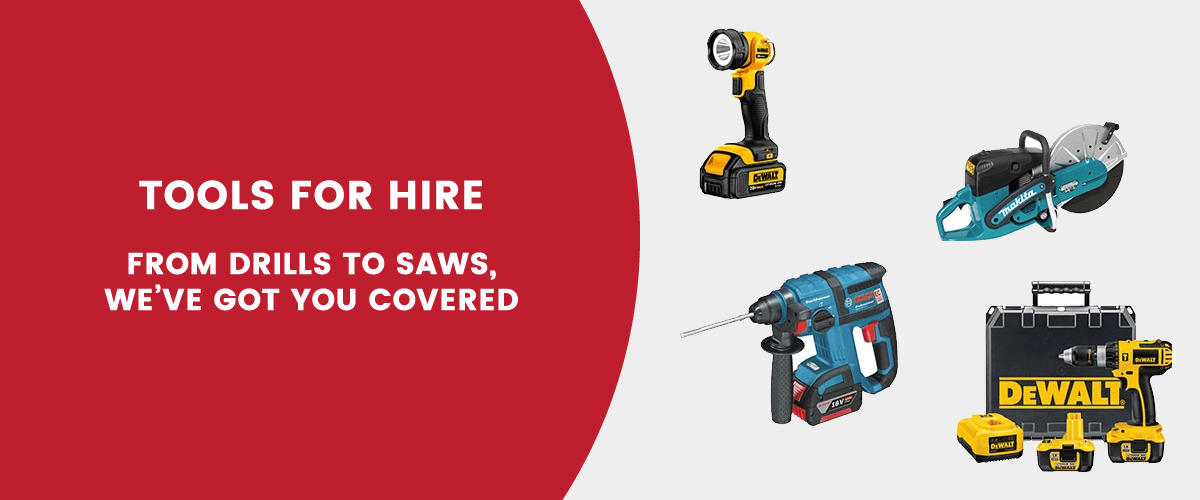 Tools for hire from TG Tool Hire
